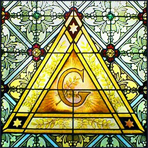 Masonic G Stain Glass